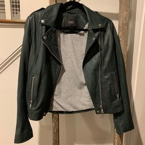 SET Deep Green Leather Jacket Size 6